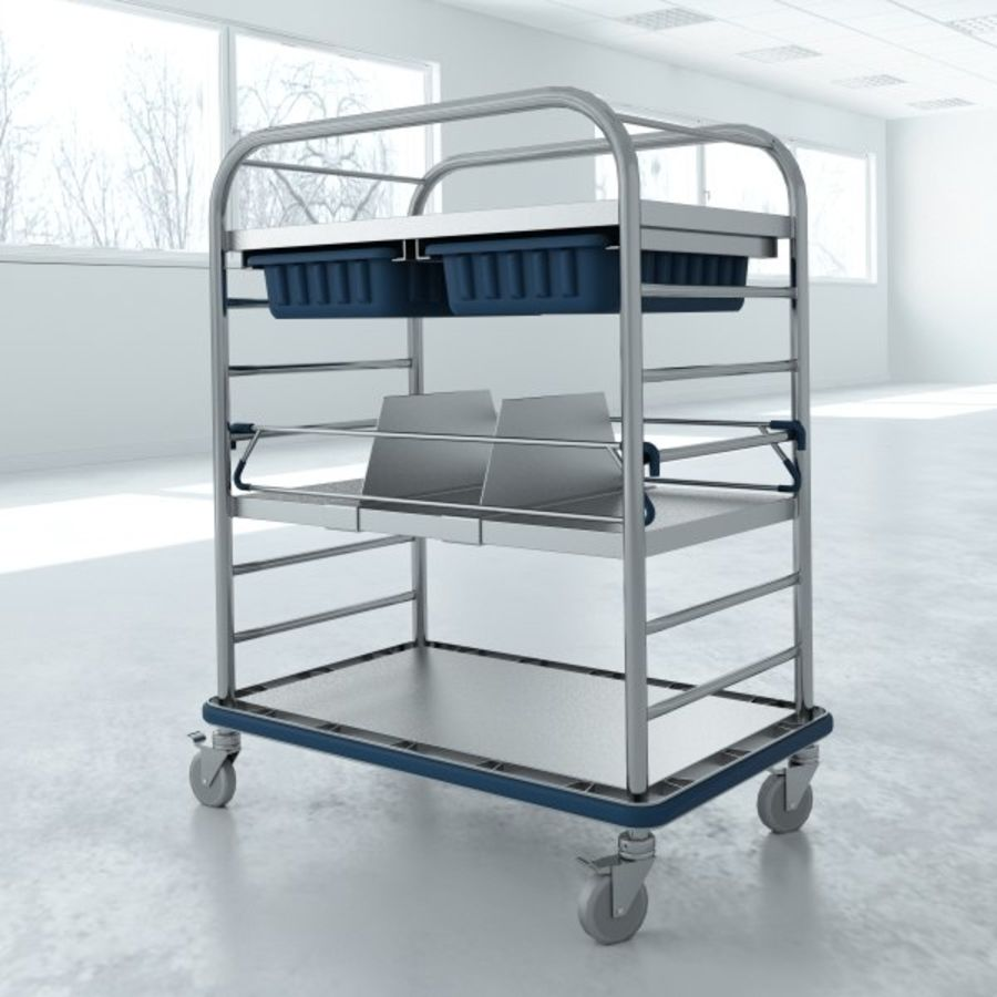 Medical Small Distribution Cart royalty-free 3d model - Preview no. 4