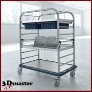 Petit chariot de distribution médical 3d model