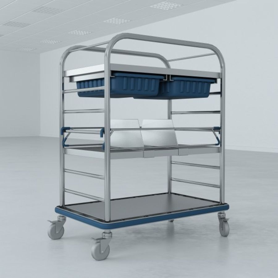 Medical Small Distribution Cart royalty-free 3d model - Preview no. 5