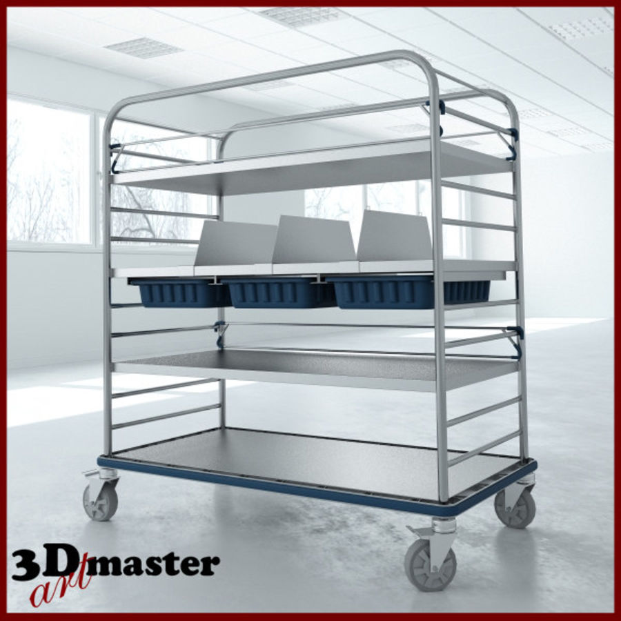 Medical  Large Distribution Cart royalty-free 3d model - Preview no. 1