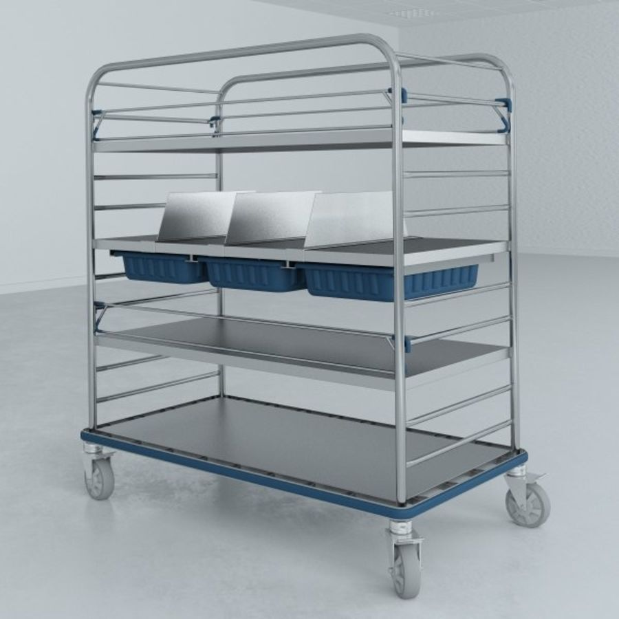 Medical  Large Distribution Cart royalty-free 3d model - Preview no. 3