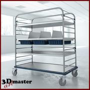 Grand chariot de distribution médical 3d model
