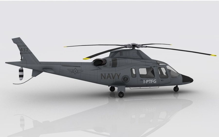 AW 109 DONANMA royalty-free 3d model - Preview no. 5