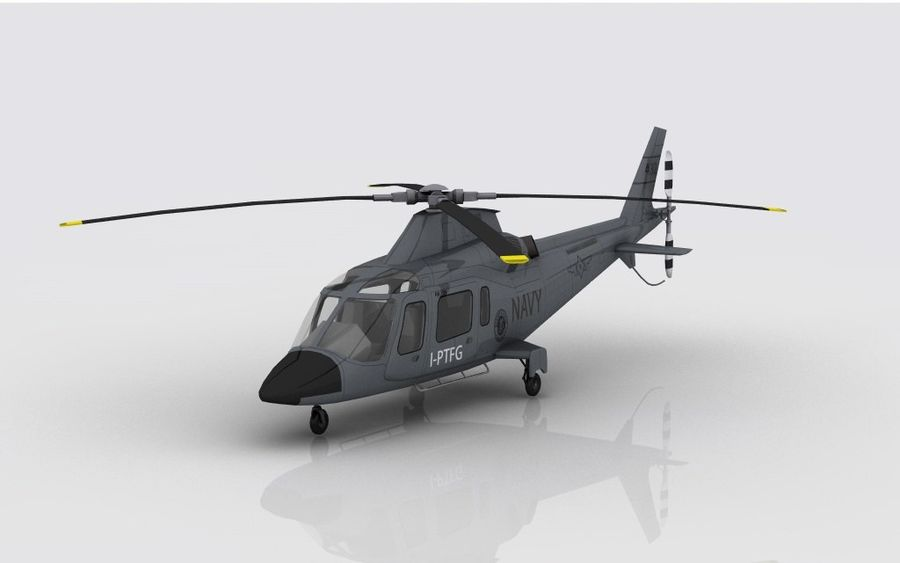 AW 109 DONANMA royalty-free 3d model - Preview no. 2