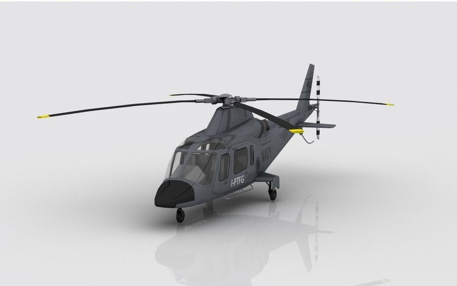 AW 109 DONANMA royalty-free 3d model - Preview no. 3