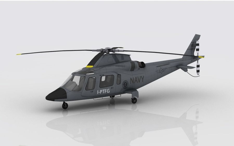 AW 109 DONANMA royalty-free 3d model - Preview no. 1