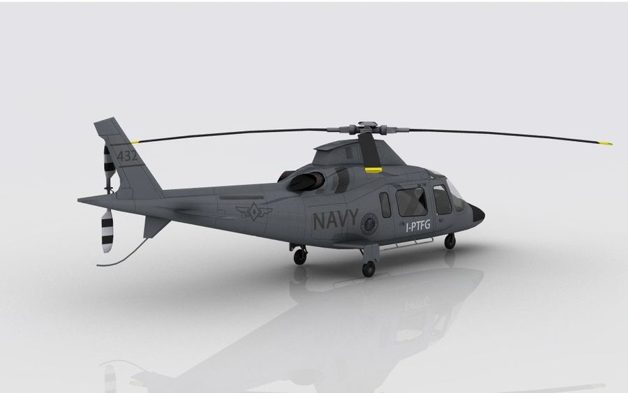 AW 109 DONANMA royalty-free 3d model - Preview no. 6