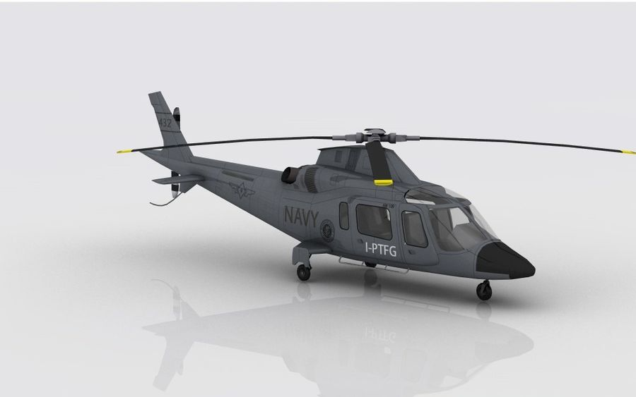 AW 109 DONANMA royalty-free 3d model - Preview no. 4