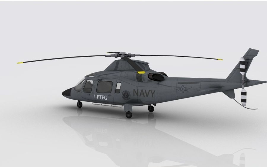 AW 109 DONANMA royalty-free 3d model - Preview no. 7