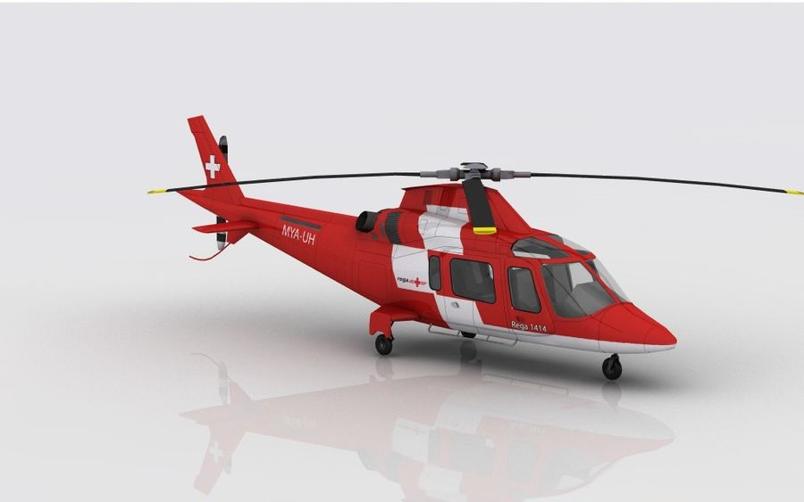 AW 109 Acil Durum royalty-free 3d model - Preview no. 3