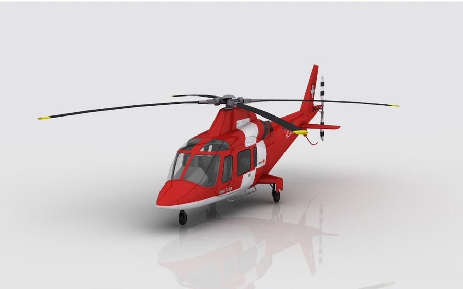 AW 109 Acil Durum royalty-free 3d model - Preview no. 2