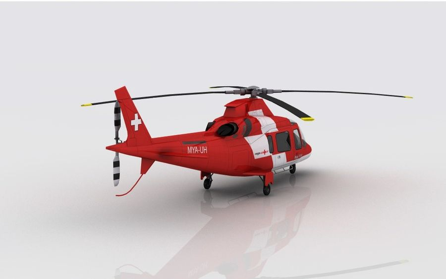 AW 109 Acil Durum royalty-free 3d model - Preview no. 5