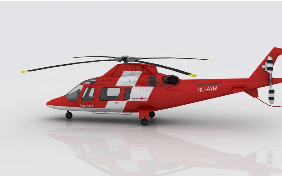 AW 109 Acil Durum royalty-free 3d model - Preview no. 6