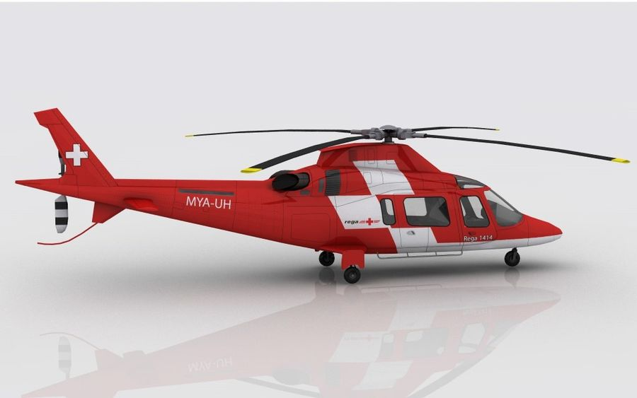 AW 109 Acil Durum royalty-free 3d model - Preview no. 4