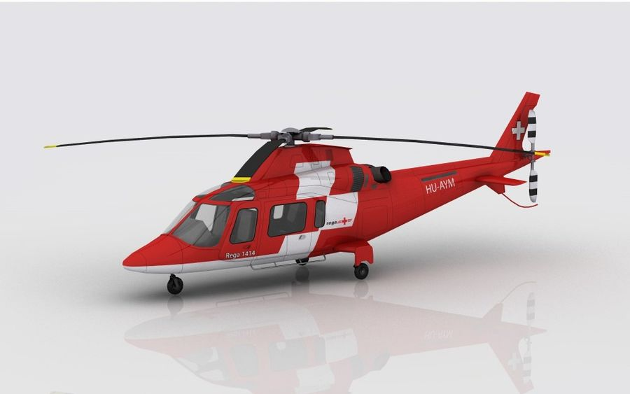 AW 109 Acil Durum royalty-free 3d model - Preview no. 1