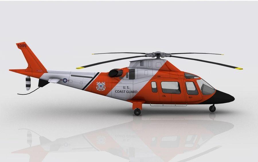 Guarda Costeira Agusta AW 109 royalty-free 3d model - Preview no. 5