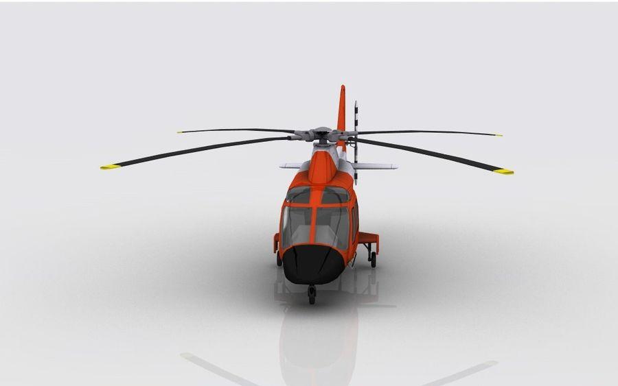 Guarda Costeira Agusta AW 109 royalty-free 3d model - Preview no. 3