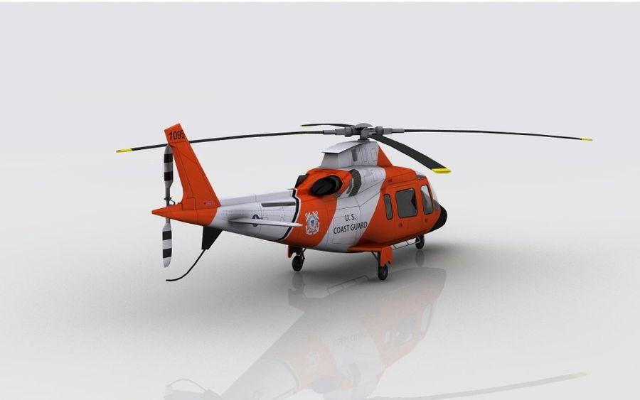 Guarda Costeira Agusta AW 109 royalty-free 3d model - Preview no. 6