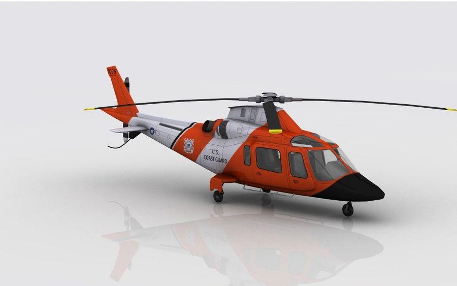 Guarda Costeira Agusta AW 109 royalty-free 3d model - Preview no. 4