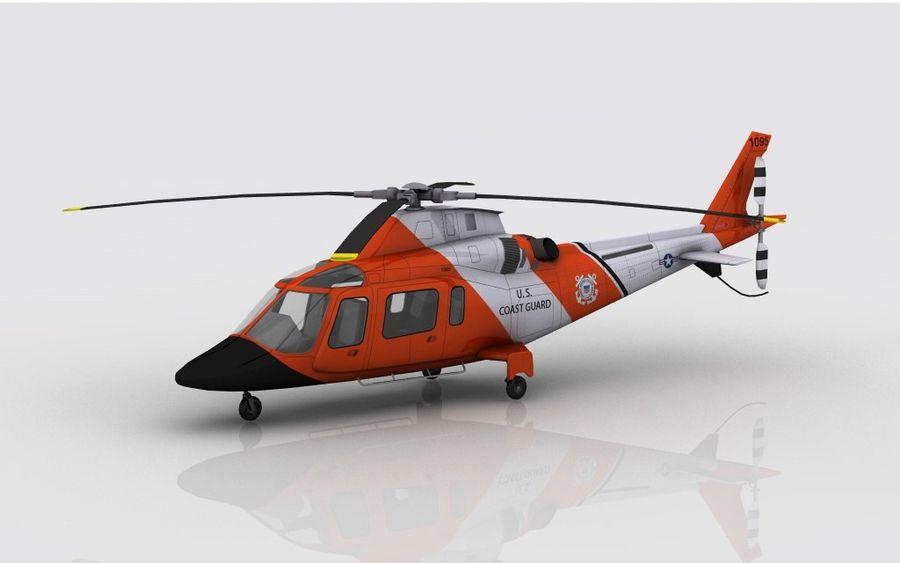 Guarda Costeira Agusta AW 109 royalty-free 3d model - Preview no. 1