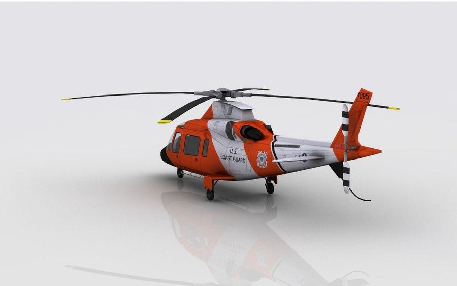 Guarda Costeira Agusta AW 109 royalty-free 3d model - Preview no. 7