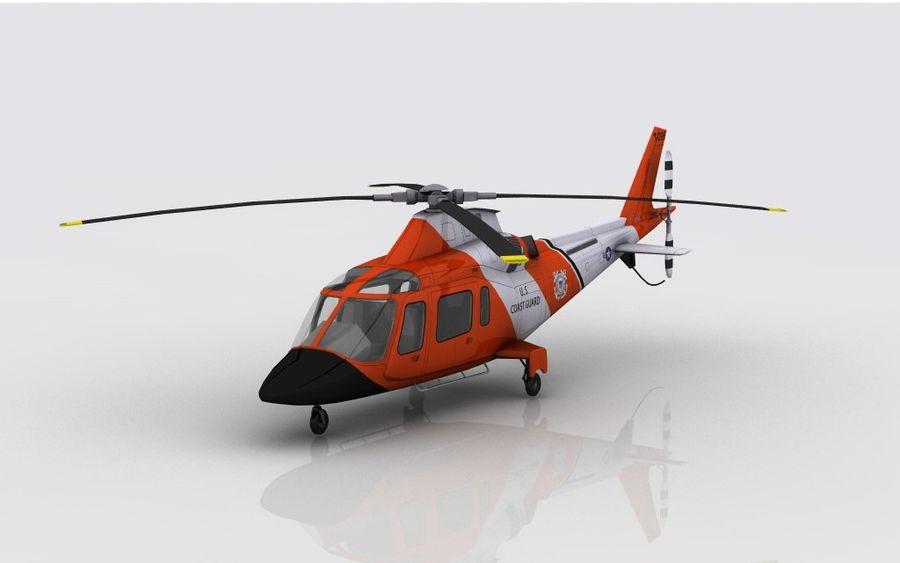 Guarda Costeira Agusta AW 109 royalty-free 3d model - Preview no. 2
