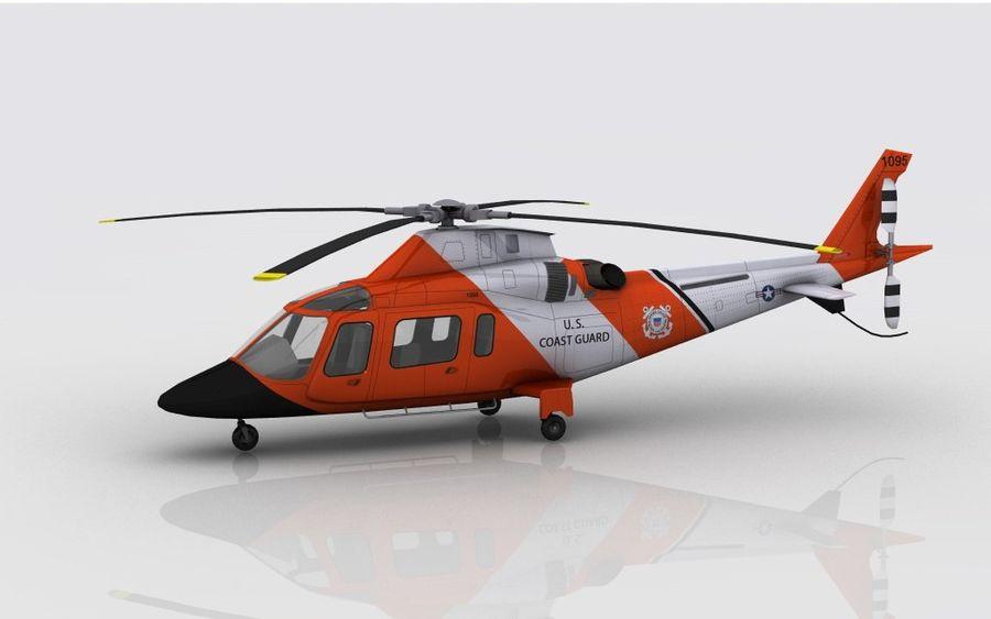 Guarda Costeira Agusta AW 109 royalty-free 3d model - Preview no. 8