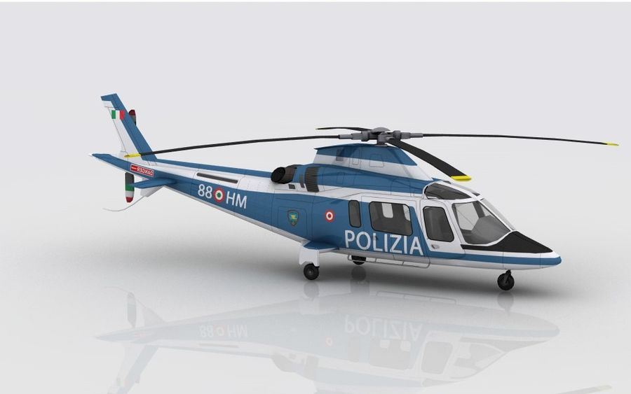 Agusta AW 109 Polizia royalty-free 3d model - Preview no. 4