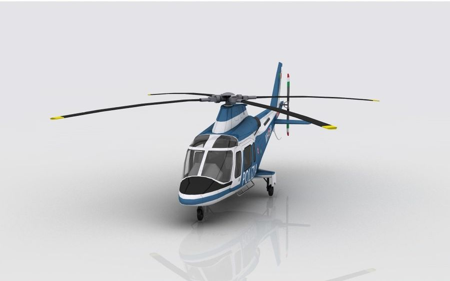 Agusta AW 109 Polizia royalty-free 3d model - Preview no. 3