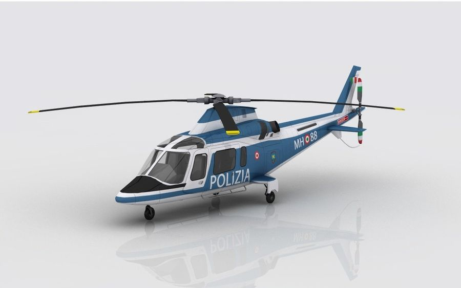 Agusta AW 109 Polizia royalty-free 3d model - Preview no. 2