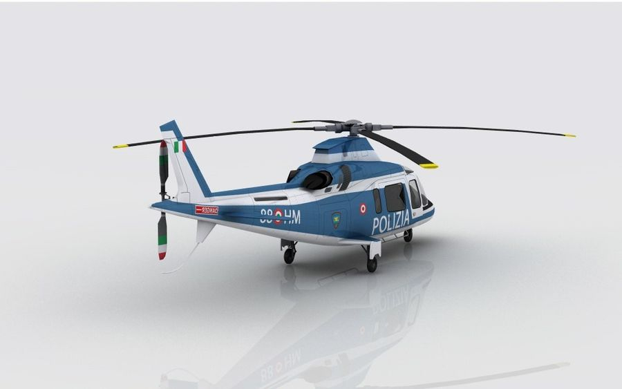 Agusta AW 109 Polizia royalty-free 3d model - Preview no. 5