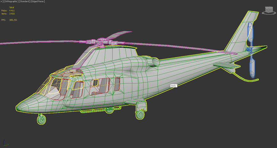 Agusta AW 109 Polizia royalty-free 3d model - Preview no. 8