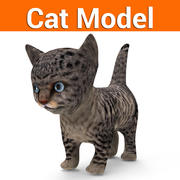 kitten kat laag poly 3d model