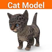 kitten cat low poly 3d model