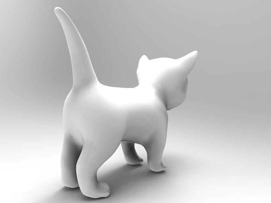 sevimli kedi yavru kedi düşük Poli royalty-free 3d model - Preview no. 12