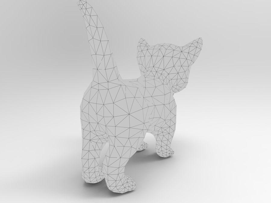 sevimli kedi yavru kedi düşük Poli royalty-free 3d model - Preview no. 15