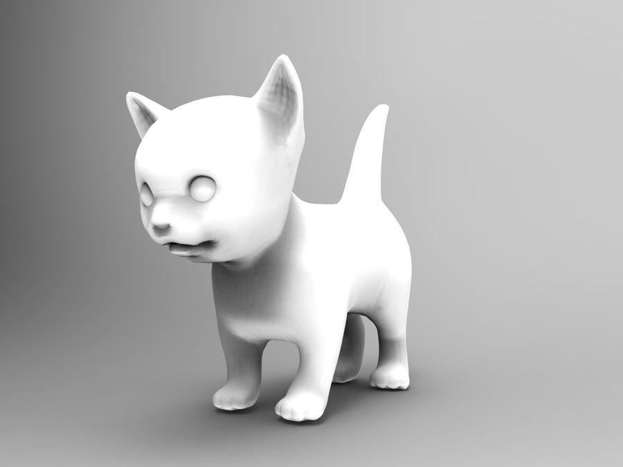 sevimli kedi yavru kedi düşük Poli royalty-free 3d model - Preview no. 10