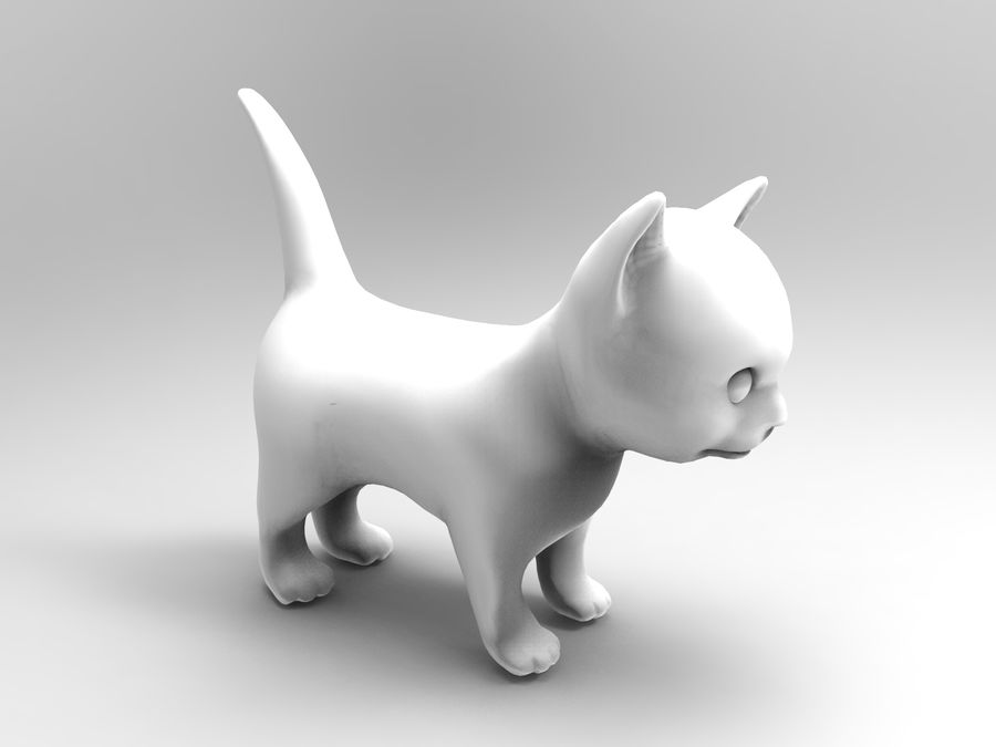 sevimli kedi yavru kedi düşük Poli royalty-free 3d model - Preview no. 11