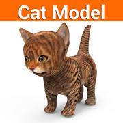 kat kitten laag poly 3d model