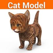 cat kitten low poly 3d model