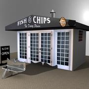 Boutique Fish N Chips 3d model