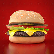 бутерброд 3d model