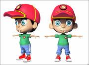 Desenho de personagem de menino 3d model