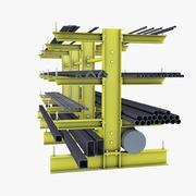 Zwaar uitgevoerde plank 3d model