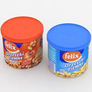 Boîtes de noix Felix Intersnack 3d model