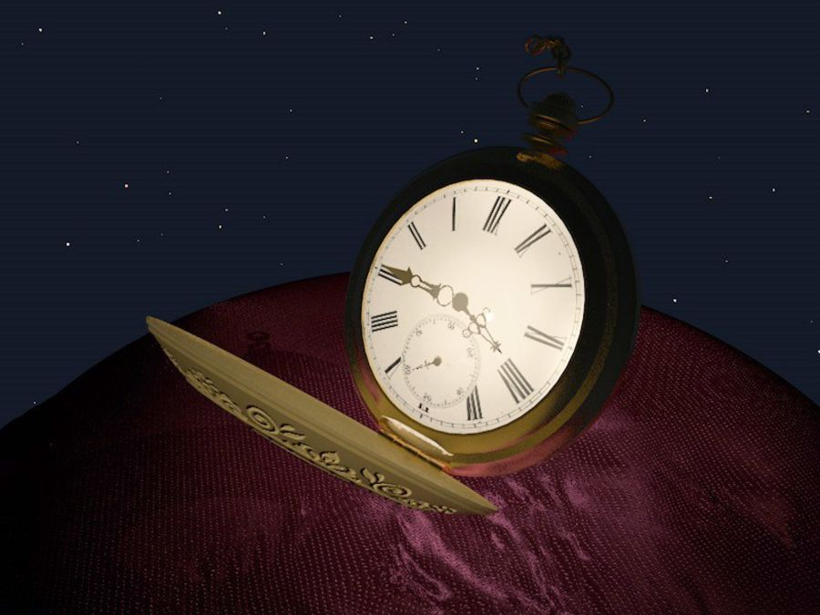Old Pocket Watch royalty-free 3d model - Preview no. 1