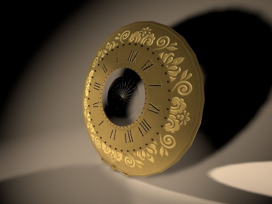 Old Pocket Watch royalty-free 3d model - Preview no. 5
