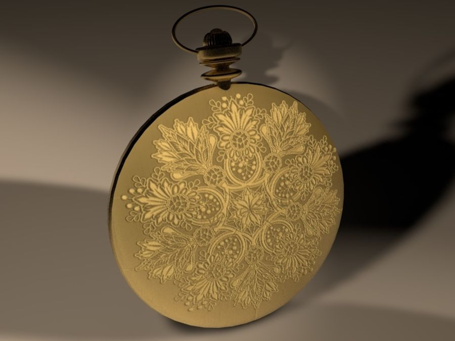 Old Pocket Watch royalty-free 3d model - Preview no. 2