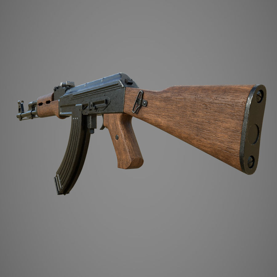 АК 47 royalty-free 3d model - Preview no. 4
