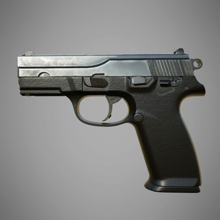 FN FNP9 royalty-free 3d model - Preview no. 2